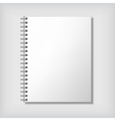 Notebook mockup vector