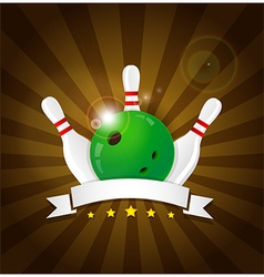 Bowling ball with skittles vector