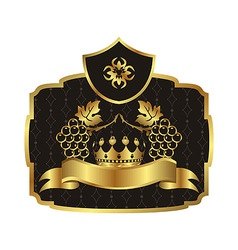 gold label vector image