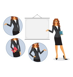 Female teacher with board vector