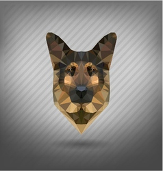 Shepherd sheep-dog abstract triangle polygonal vector