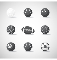 black and white sports balls vector image