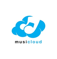 Song cloud storage theme vector