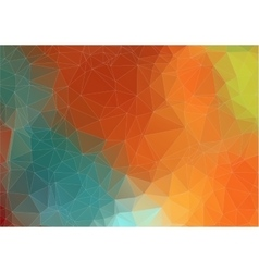 Abstract retro color triangle background vector image vector image