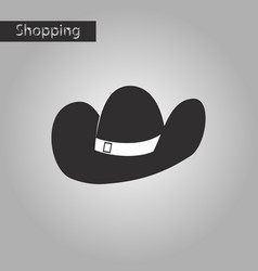 Black and white style icon cowboy hat vector