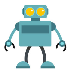 Blue robot icon isolated vector