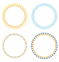 Circle template badge vector