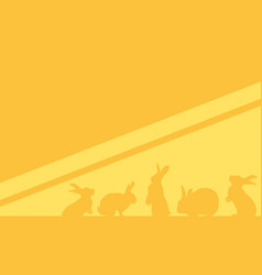 Collection of easter background style vector