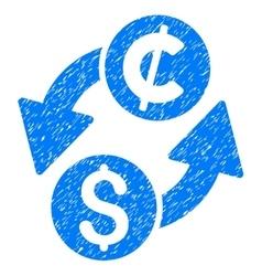 Dollar cent exchange grainy texture icon vector