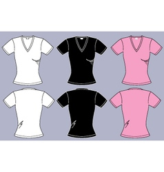 Female t-shirts vector image vector image
