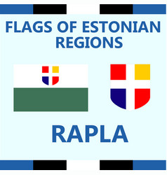 Flag of estonian region rapla vector
