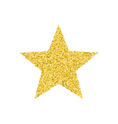 glitter golden star vector image