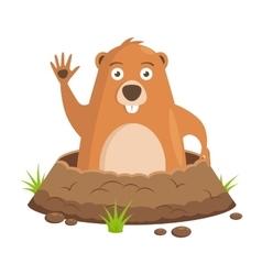 Groundhog day celebratory background vector