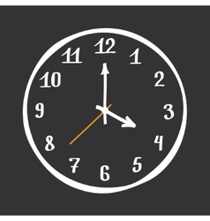 Hand drawn clock vector