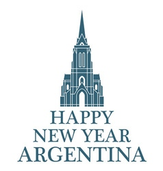 Happy new year argentina vector