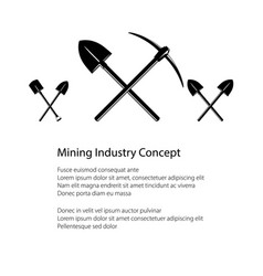 Mining industry and construction concept vector