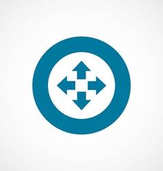 Move bold blue border circle icon vector