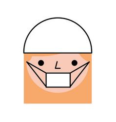 Nurse avatar character icon vector
