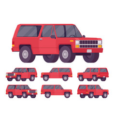 Red offroad set vector