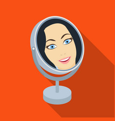 reflection in the table mirror mirror for make-up vector image