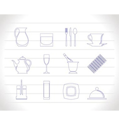 restaurant club icons vector image vector image
