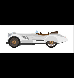 Retro sport car old vintage racing sportcar vector