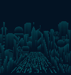 scifi city vector image vector image