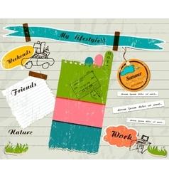 Scrapbook details set vector