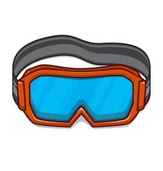 Snowboard ski goggles vector image
