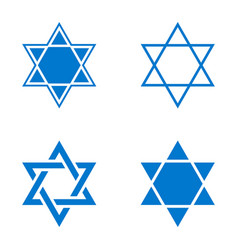star of israel icon vector image vector image