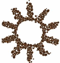 symbol of coffee sun vector image