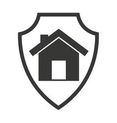 Shield isolated insurance icon vector