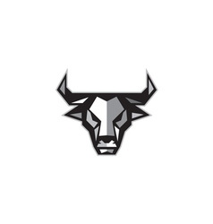 Bull cow head low polygon vector