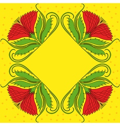 Four red rosettes vector image