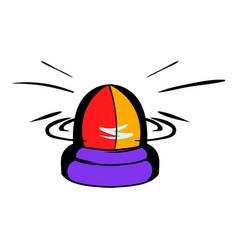 Police flasher icon icon cartoon vector