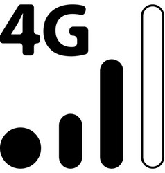 Mobile smart phone 4g network icon vector