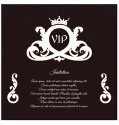 An elegant invitation for vip with a delicate vector