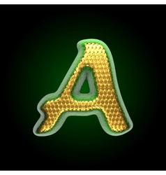 Golden and green letter a vector