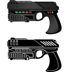 Futuristic pistol vector