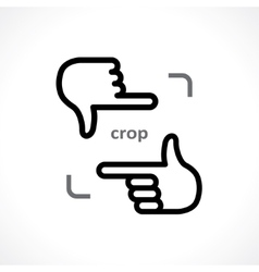 Cropping hands vector