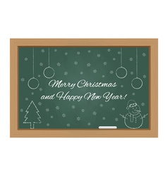 Christmas design on chalkboard vector