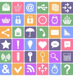 Basic icons set Apps Smartphone sign icon vector image