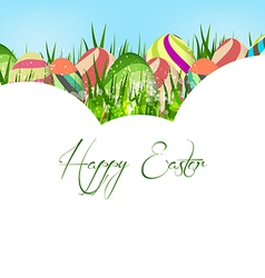 Happy easter eggs colorful background vector