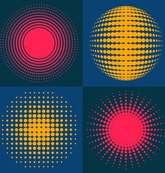 Circle abstract halftone vector