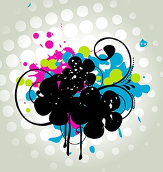 Abstract grungy design vector