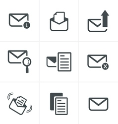 Set of icons for messages design vector