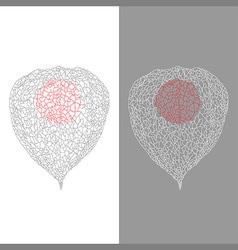Stylized Physalis vector image