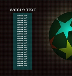 Champions league ball with information text board vector