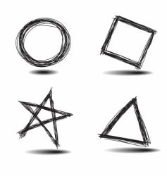 Drawn shapes vector