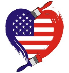 America grunge flag vector